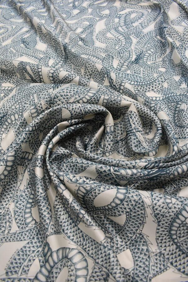 Подклад вискоза змеи на светлом фоне (6740) - Фото 9