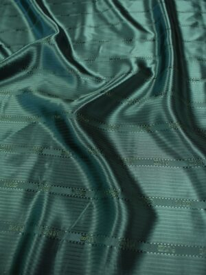 Подклад жаккардовый зеленый с надписями (6741) - Фото 14