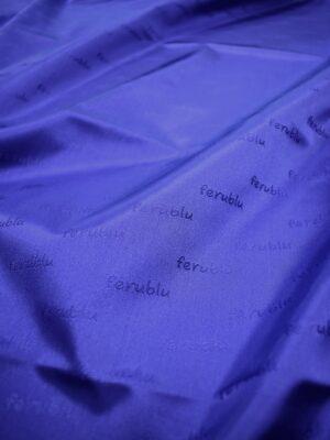 Подклад жаккардовый синий с надписями (6745) - Фото 17
