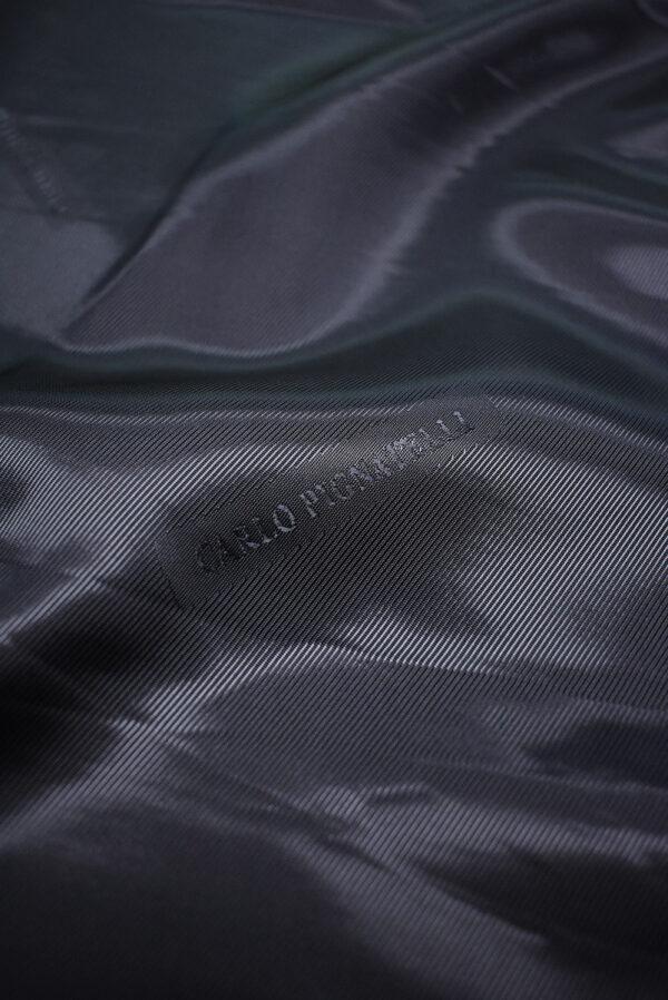 Подклад жаккардовый оттенок черника с надписями (6746) - Фото 7