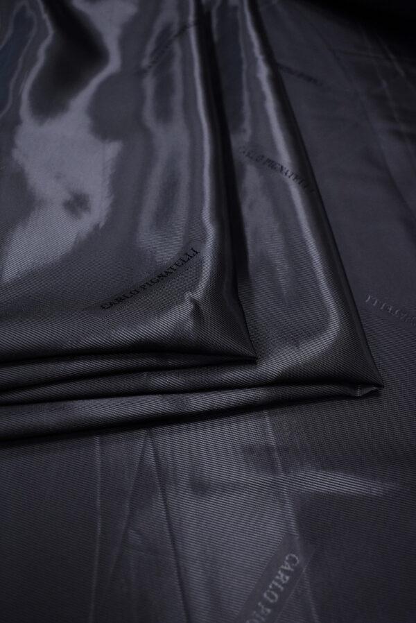 Подклад жаккардовый оттенок черника с надписями (6746) - Фото 9