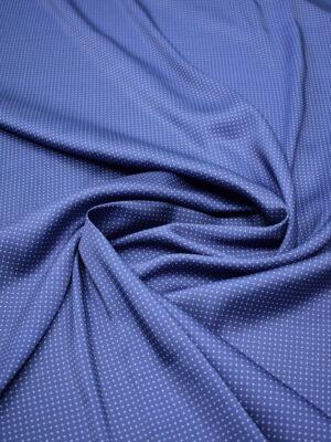 Атлас синий в мелкий горошек (6842) - Фото 16