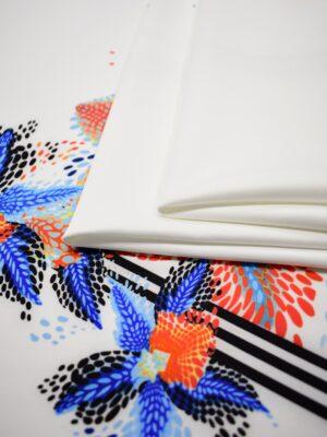 Джерси купон белый с абстрактными цветами (6845) - Фото 16
