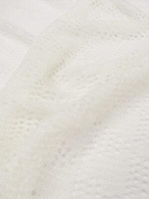 Паутинка шерсть ангора молочная с красивым узором (6917) - Фото 9