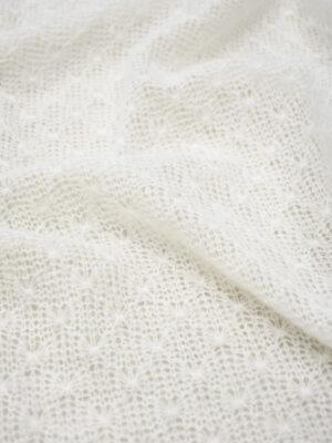 Трикотаж паутинка шерсть ангора молочный оттенок (6921) - Фото 13