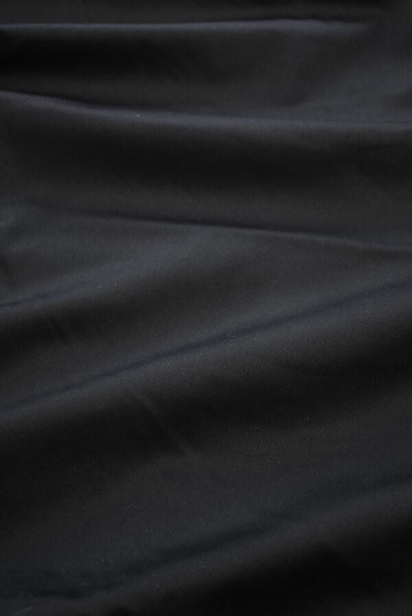Сатин стрейч черный с матовым блеском (6945) - Фото 6