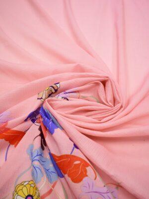 Марлевка купон яркие цветы на розовом фоне (6951) - Фото 12