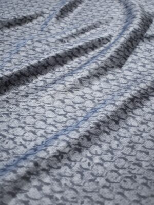 Атлас серый с узором типа шкуры (6987) - Фото 13