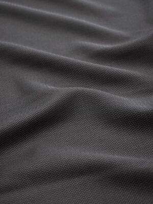 Костюмная шерсть графитовый оттенок зигзаг (6997) - Фото 10