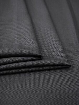 Костюмная шерсть графитовый оттенок зигзаг (6997) - Фото 11