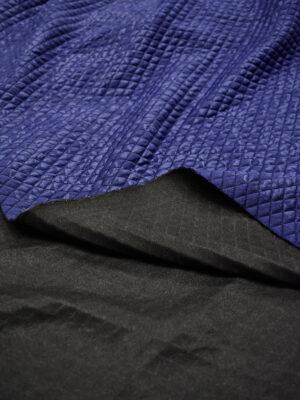 Джерси стеганый ромбами синий с узором пейсли (7030) - Фото 15