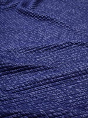 Джерси стеганый ромбами синий с узором пейсли (7030) - Фото 14