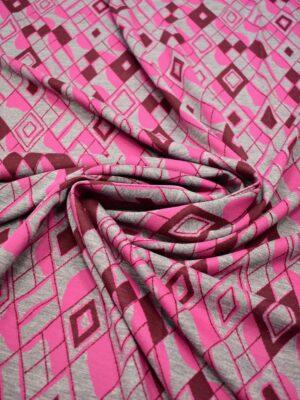 Джерси серый с розовыми и бордовыми ромбами (7039) - Фото 19