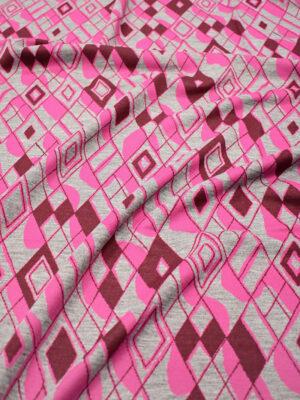 Джерси серый с розовыми и бордовыми ромбами (7039) - Фото 18