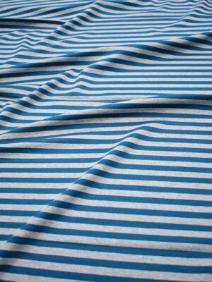 Джерси в серую и темно-бирюзовую полоску (7056) - Фото 16