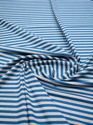 Джерси в серую и темно-бирюзовую полоску (7056) - Фото 17