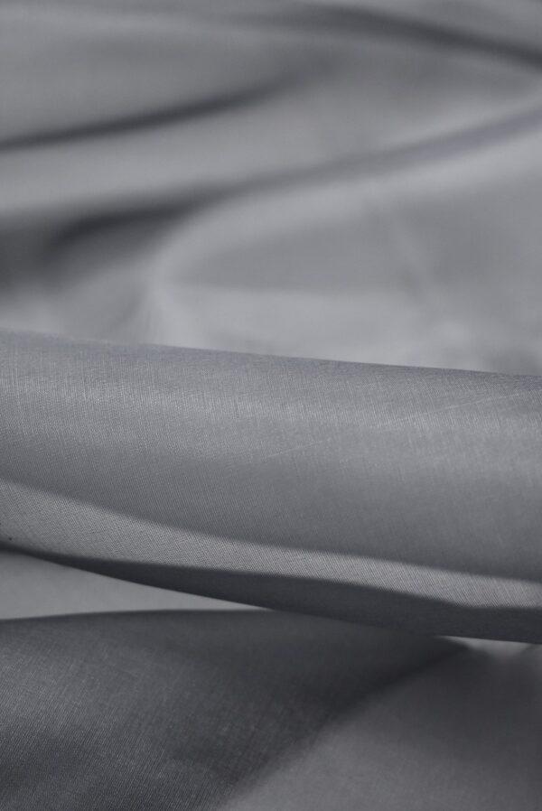 Органза шелковая темно-серая (7088) - Фото 8