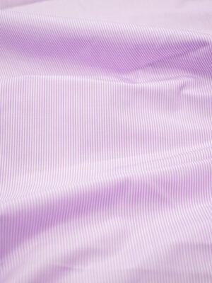 Хлопок рубашечный белый в розовую полоску (7148) - Фото 10