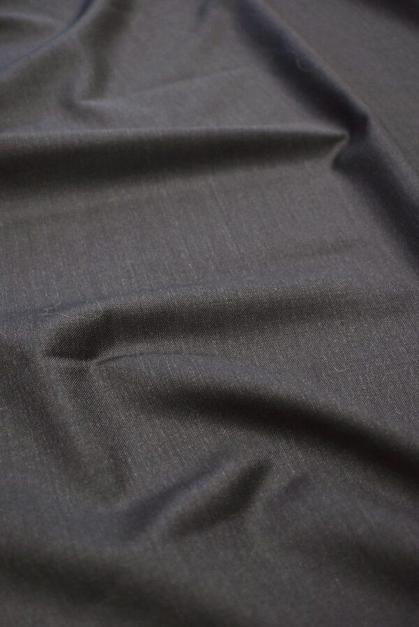 Костюмная шерсть темный графит с коричневатым оттенком (7153) - Фото 7