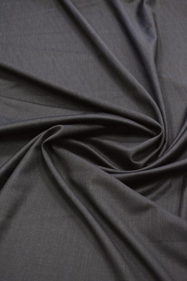 Костюмная шерсть темный графит с коричневатым оттенком (7153) - Фото 8