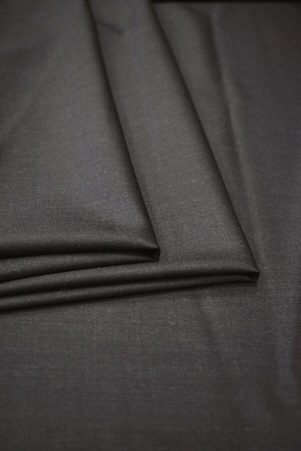 Костюмная шерсть темный графит с коричневатым оттенком (7153) - Фото 9