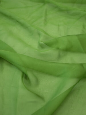 Газ шифон шелковый зеленый (7242) - Фото 14