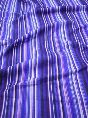Шифон шелк стрейч в вертикальную синюю полоску (7283) - Фото 11