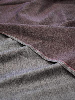 Костюмная шерсть бордовый меланж (7301) - Фото 17