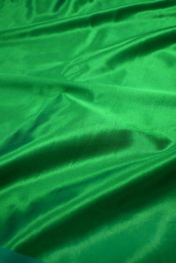 Сатин стрейч зеленый атласный (7322) - Фото 6