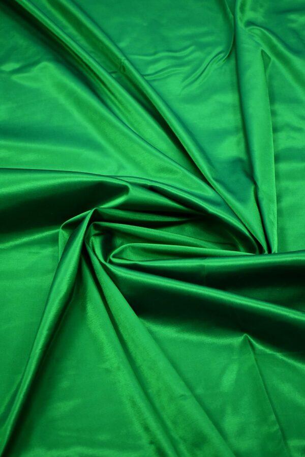 Сатин стрейч зеленый атласный (7322) - Фото 9