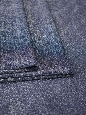 Трикотаж синий с серебристым люрексом (7439) - Фото 21