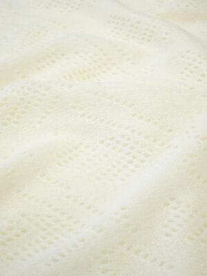 Трикотаж паутинка молочный оттенок в елочку (7442) - Фото 11