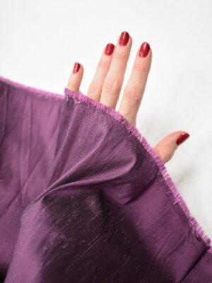 Шелк шантунг стрейч лиловый оттенок (7455) - Фото 16