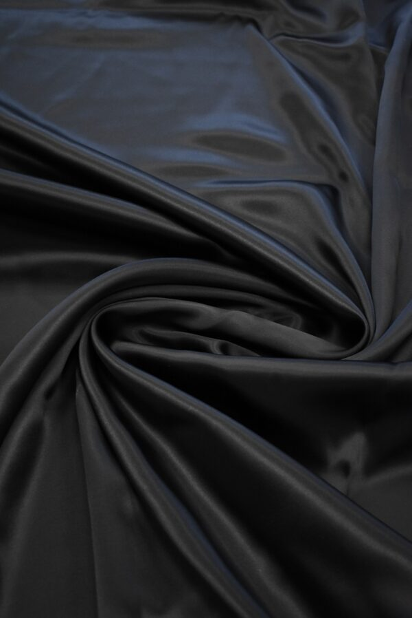 Атлас черный глянцевый плотный (7539) - Фото 7