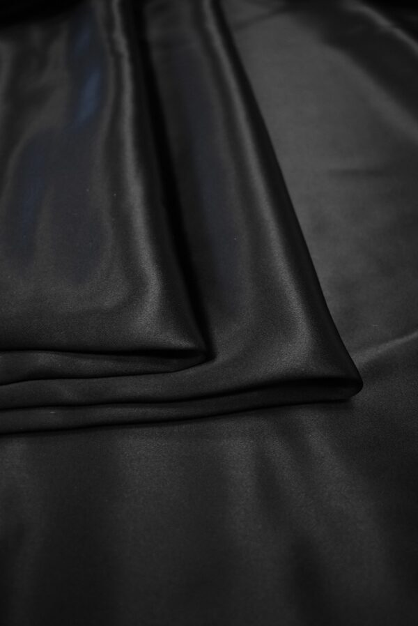 Атлас черный глянцевый плотный (7539) - Фото 8