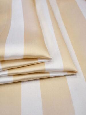 Тафта в полоску персиковая с белым (7543) - Фото 23