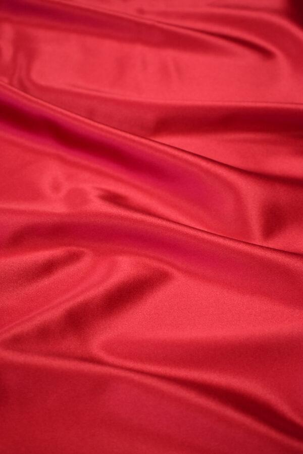 Шелк атласный стрейч оттенок яркая вишня (7561) - Фото 6