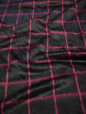 Джерси черный в клетку с длинным ворсом (7607) - Фото 17