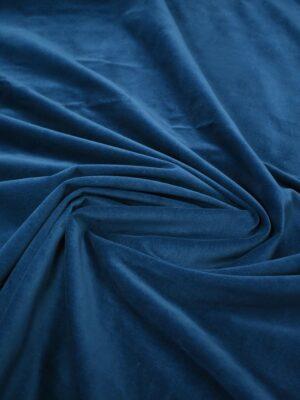 Бархат хлопковый синий матовый (7642) - Фото 19