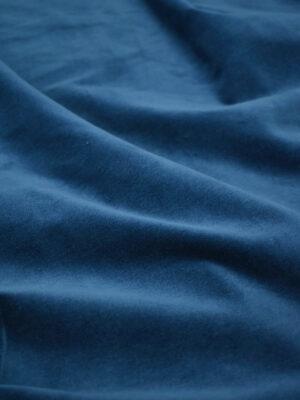 Бархат хлопковый синий матовый (7642) - Фото 18