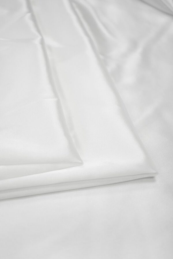 Атлас стрейч белый (7643) - Фото 8