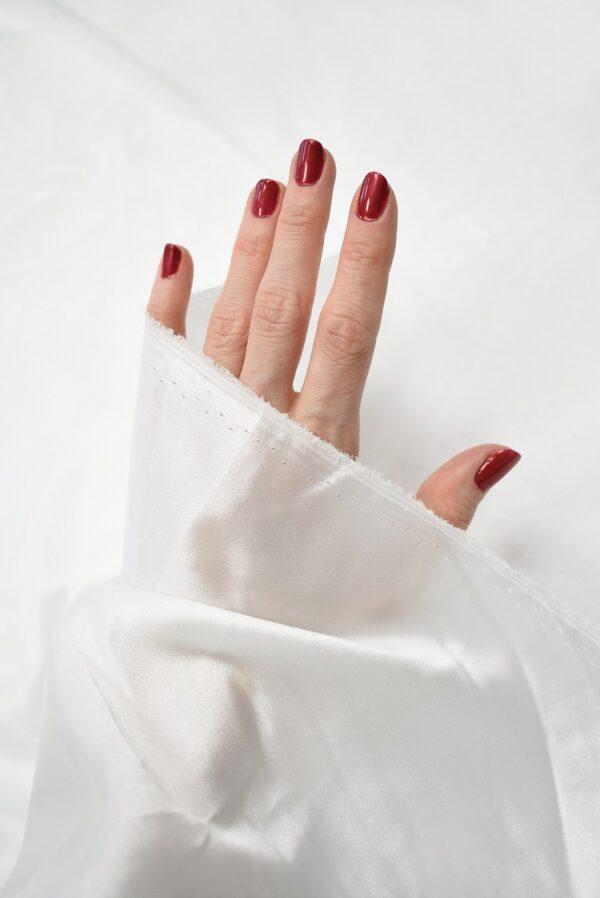 Атлас стрейч белый (7643) - Фото 7