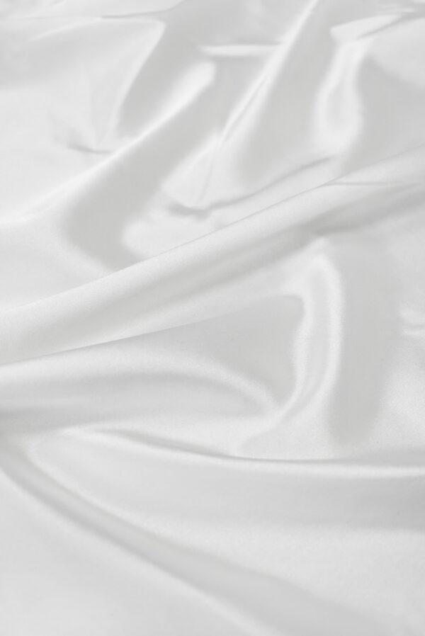 Атлас стрейч белый (7643) - Фото 6