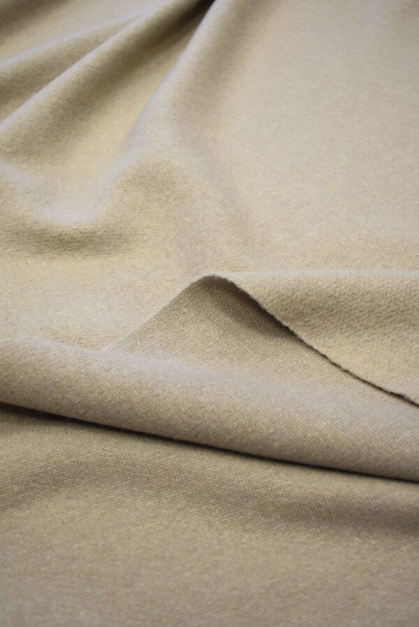 Джерси шерсть бежевый оттенок с ворсом (7645) - Фото 10