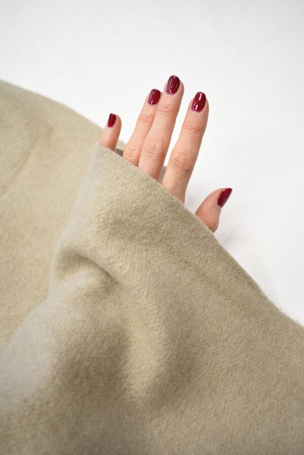 Джерси шерсть бежевый оттенок с ворсом (7645) - Фото 7