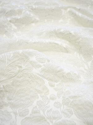Жаккард молочно белый оттенок цветочный узор (7670) - Фото 12