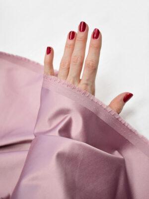 Сатин розовый с глянцевым блеском (7681) - Фото 11