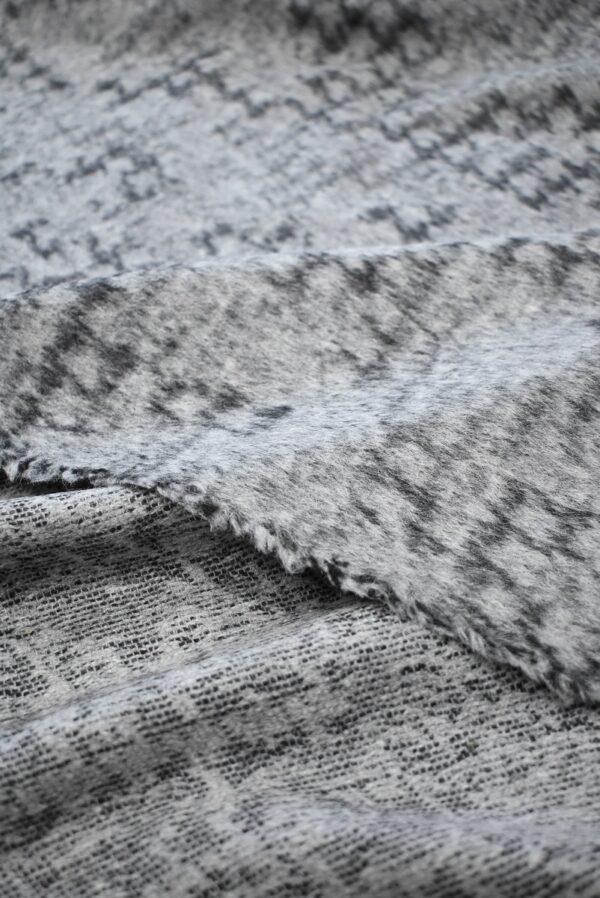 Пальтовая шерсть с ворсом серый меланж (7726) - Фото 8