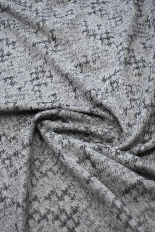 Пальтовая шерсть с ворсом серый меланж (7726) - Фото 7