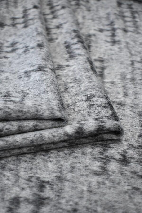 Пальтовая шерсть с ворсом серый меланж (7726) - Фото 9